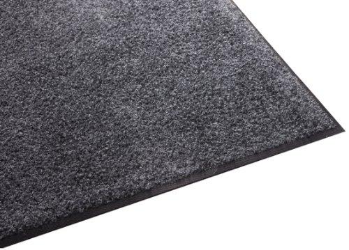 (Guardian Platinum Series Indoor Wiper Floor Mat, Rubber with Nylon Carpet, 3'x4', Grey)