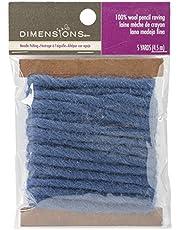 Dimensions Needlecraft -Pack Wool Roving, Blue