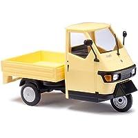 Busch 60003 - Modellino Piaggio Ape 50, scala 1:43, colore: Giallo