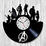The Avengers Age Of Ultron Vinyl Record Wall Clock - Decorate your home with Modern Superheroes Art - Best gift for man, woman, boyfriend and girlfriend - Win a prize for feedback