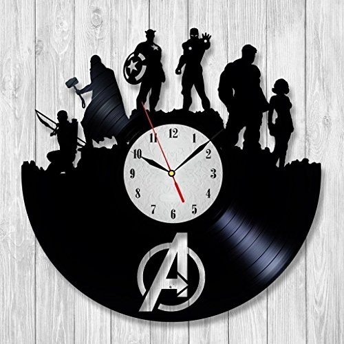 The Avengers Age Of Ultron Vinyl Record Wall Clock - Decorate your home with Modern Superheroes Art - Best gift for man, woman, boyfriend and girlfriend - Win a prize (Custom Hulk Costumes)