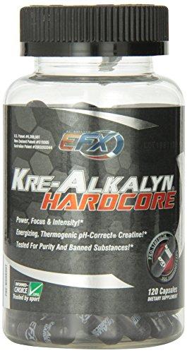 Tous EFX américaine, Kre-Alkalyn Hardcore 120 Capsules