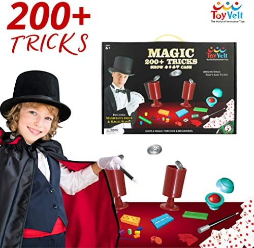 ToyVelt Magic Tricks Magic Set - Kids Magic Kit for BeginnersOver 200 Tricks and Instructions - Hours of Fun and Learning - for Boys and Girls Ages 5 67 and Up