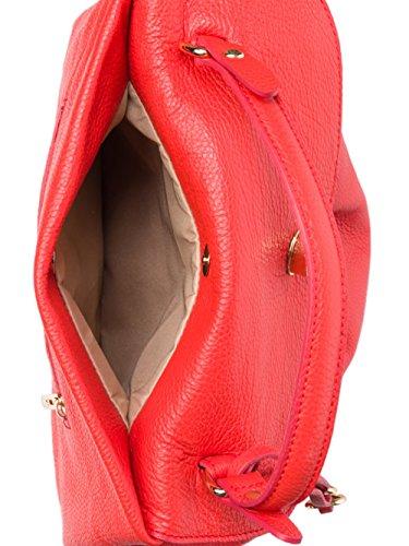 SUPERFLYBAGS Borsa Donna a Mano in Vera Pelle morbida modello Verig Made in Italy Rosso