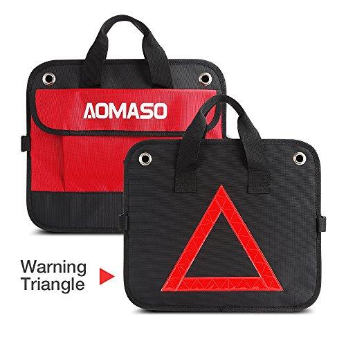 Aomaso Auto Trunk Organizer Conception de Nylon Coffre organisateur Pliables Pour Tous Les véhicules Automobiles et d'accueil Avec Triangle - Noir et Rouge lovely