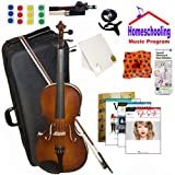 """Homeschool Music - Learn to Play the Viola Pack (Taylor Swift Music Book Bundle) - Includes Student 16"""" Viola w/Case, Bow, Books & All Inclusive Learning Essentials"""