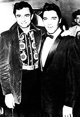 Amazon Johnny Cash Elvis Presley Poster Rock N Roll Legends The Man In Black King Of Prints Posters