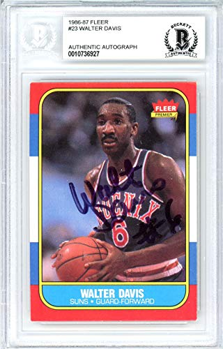 - Walter Davis Autographed 1986 Fleer Card #23 Phoenix Suns Beckett BAS #10736927 - Beckett Authentication