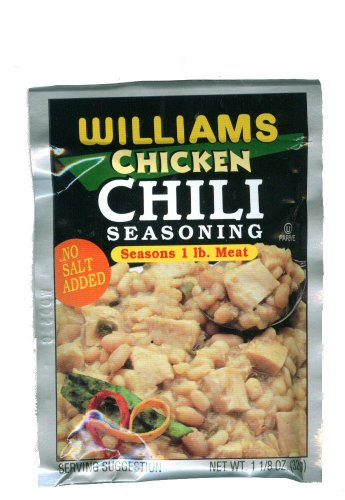 Williams Chicken Chili Seasoning  113 Ounces Pack of 6