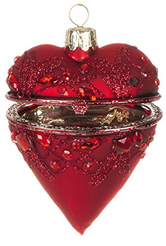 Heart Shaped Ornaments (Sullivans Glass Heart Shaped Christmas Ornament)