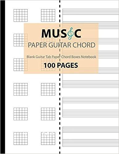 Music Paper Guitar Chord Blank Guitar Tab Paper Chord Boxes