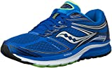 Saucony Men's Guide 9 Running Shoe, Blue/Slime/Black, 11 M US