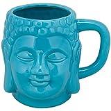 10 Strawberry Street Oversized Buddha Mug, 20 Oz, Turquoise