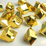 Acrylic Ice Rocks Crystal Vase Filler, 1-inch, 150-piece (Metallic Gold)