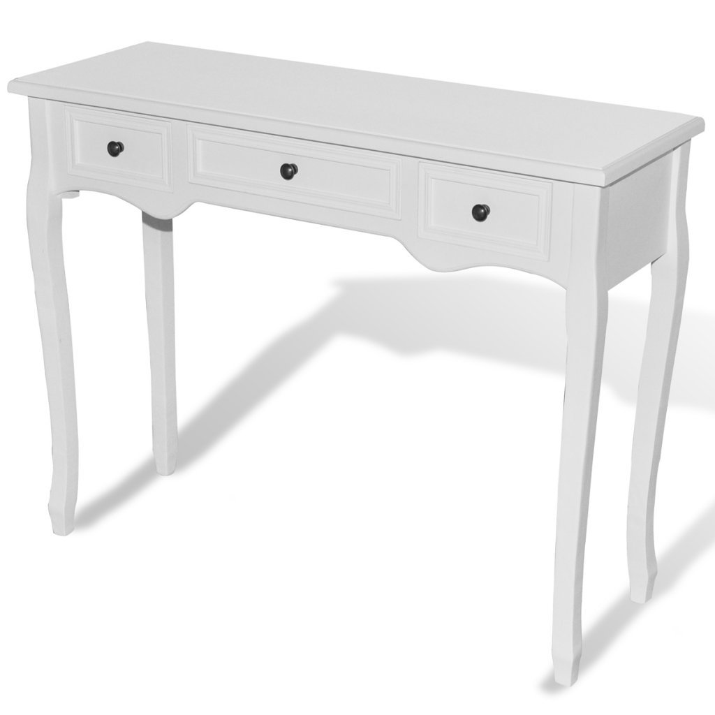 vidaXL Dressing Console Hall Side Table Bedside 3 Drawer French Furniture Provincial