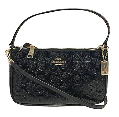 Black Patent Leather Coach Bag - 5