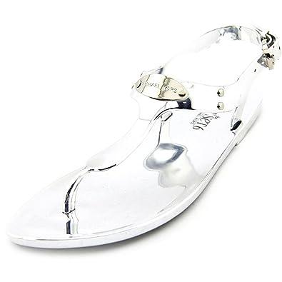 a15ccc0ceaa Michael Michael Kors MK Plate Jelly Women US 10 Silver Thong Sandal (10