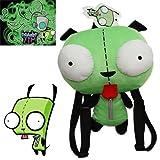 Alien Invader Zim Gir animal Robot DOG Plush Toy Kid Bag Green Soft Backpack By Fantastic House