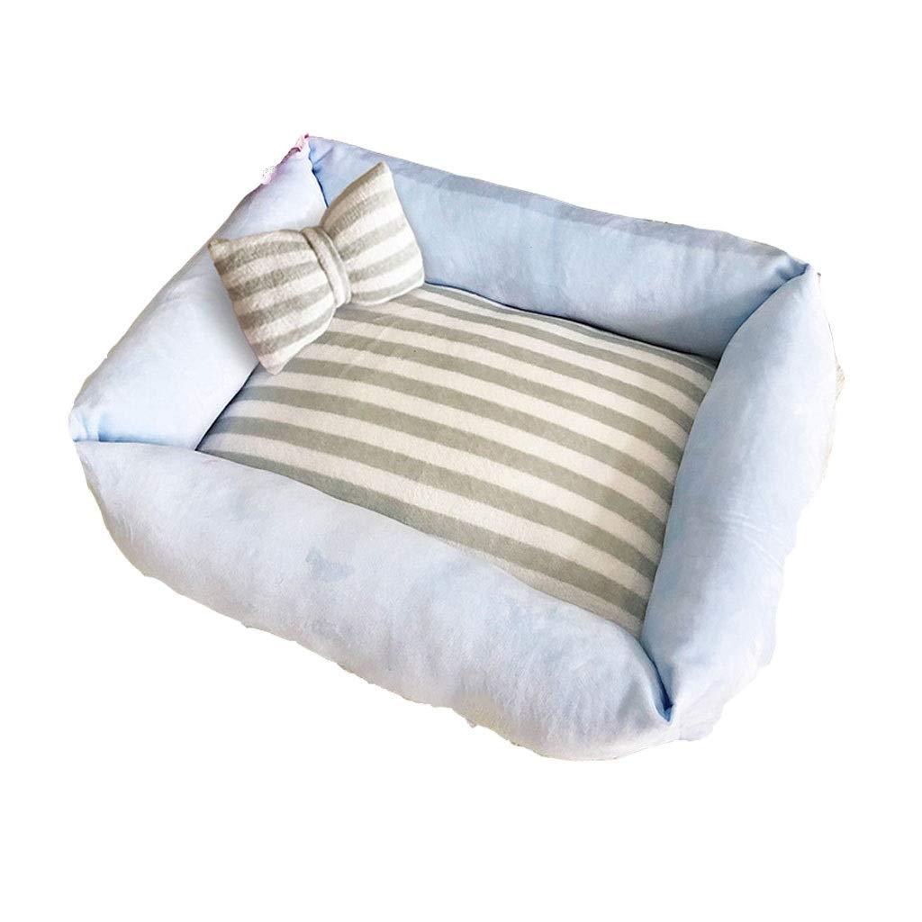 A 6850CM A 6850CM Pet Nest,Winter Warm Short Velvet Kennel Small Dog Kennel Cat Nest Removable Pet Bed (color   A, Size   68  50CM)
