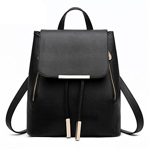 Teenagers High Handle Girls Bags For Black Pu Herald Backpack School Backpacks Top Fashion Quality Leather Women 8wSPqz