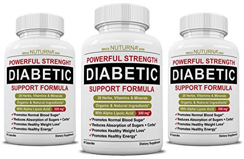 Diabetic Support Formula - 28 Vitamins Minerals & Herb for Blood Sugar Support - Healthy Body Weight & Extra Energy Support Naturally - Premium Diabetes Multivitamin Supplement for Men & Women
