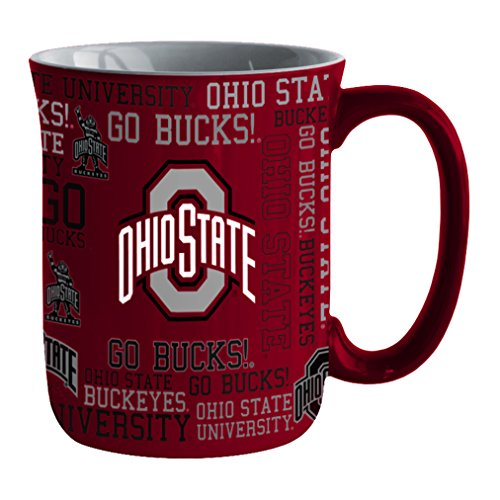 NCAA Ohio State Buckeyes Sculpted Spirit Mug, 17-ounce