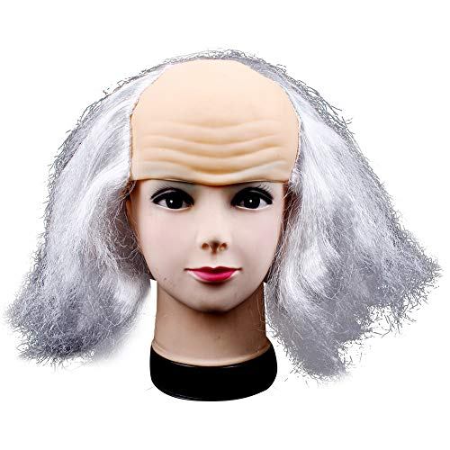 Halloween Costume for Women Men Kid Dress up Benjamin Franklin Mask Wig Headdress