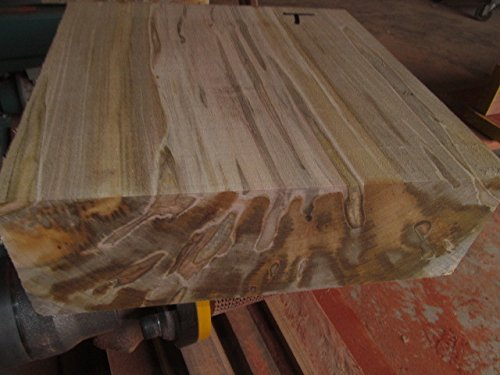 "One Large 12"" X 12"" X 4"" Thick Ambrosia Maple bowl blank Turning Block Lumber 12 X 12 X 4"" Processed Green and Completely Sealed with Anchorseal ."