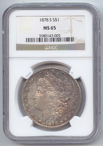 1878 S Morgan Dollar MS-65 NGC