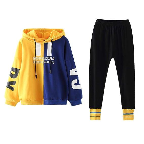 2tlg Damen Trainingsanzug Sweatjacke Sporthose Hoodie Fitness Jogginganzug