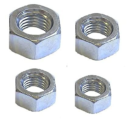 Full Nut Mixed (40 Pack) 3/4/5/6mm A2 Stainless Steel Hex Hexagon Full Nuts (10x M3 M4 M5 & M6) Free UK Delivery DBA Hardware