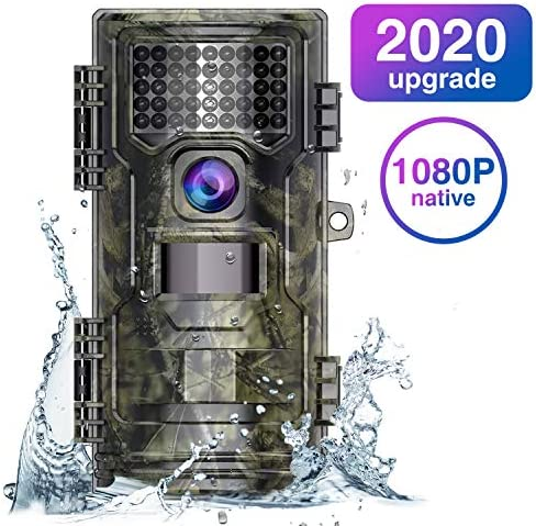 Trail Camera,Game Camera 2020 Upgraded 20M 1080P Hunting Camera with Night Vision Motion Activated Waterproof up to 70ft 0.2s Trigger Speed for Home Security Wildlife Animal Cameras