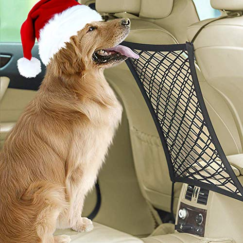 Dog Barrier Safety Pet Barrier Car Net Stretchy Car Seat Organizer Universal for Dogs, Cars, Jeeps, Trucks, Suv, Vehicles, Pets, Heavy Duty by Eackrola
