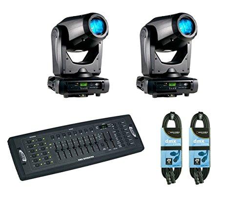 2x American DJ Focus Spot Three Z + DMX Operator + Cables by American DJ