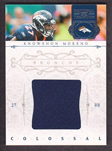 2011 Playoff National Treasures Football Colossal Jersey #13 Knowshon Moreno 12/99 Denver Broncos