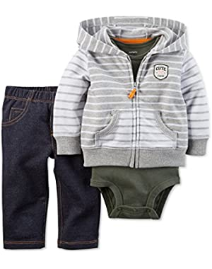 Carter's Baby Boys' 3-Piece Cardigan, Bodysuit & Pants Set