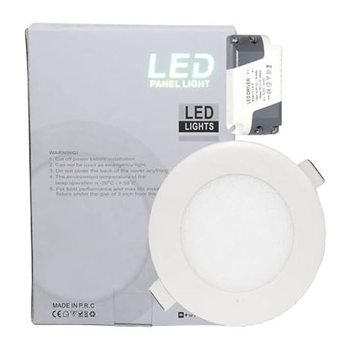 Microondas 3 W LED para techo Panel de luz 6000 K luz blanca ...