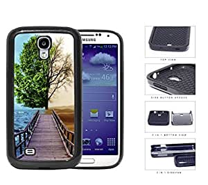 Bridge Water And Sand Scenery 2-Piece Dual Layer High Impact Rubber Silicone Cell Phone Case Samsung Galaxy S4 SIV I9500