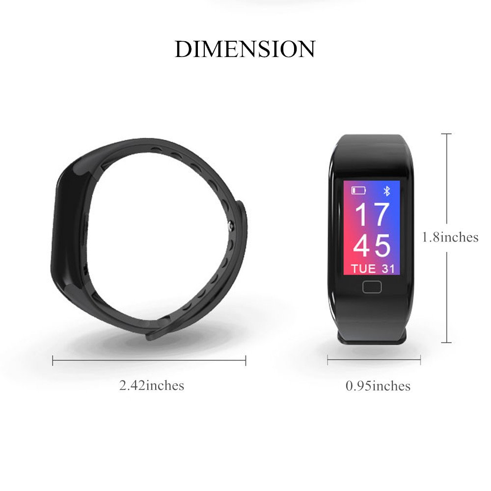 BTwear Fitness Tracker with Heart Rate Monitor, Waterproof Activity Tracker with Blood Pressure Monitor for Androids and iOS