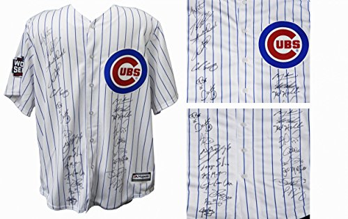 Majestic Cubs Pinstripe Authentic Jersey - 3