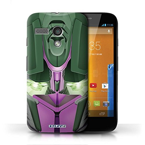 Etui / Coque pour Motorola MOTO G (2013) / Opta-Bot Rose conception / Collection de Robots