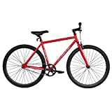 Micargi RD818-48-RED-BK Unisex Road Bike44; Red & Black