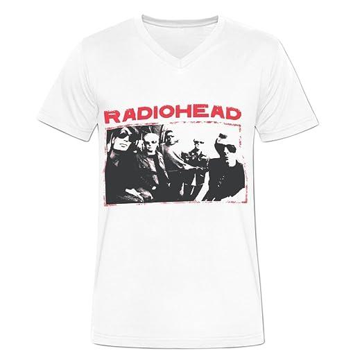45c51ff923ab Amazon.com: Blackwhitem Mens Radiohead T Shirts Cotton V Neck M ...