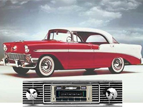 - Custom Autosound Stereo compatible with 1956 Chevy Bel Air & Nomad, USA-630 II High Power 300 watt AM FM Car Stereo/Radio