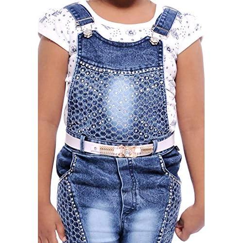 51OhAciTD3L. SS500  - Aayat Fashion Girls Slim Fit 3/4 Pant Beautiful Embroidery Dungaree