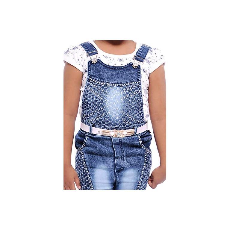 51OhAciTD3L. SS768  - Aayat Fashion Girls' Knee Length Dungaree