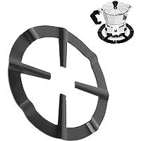 Gietijzeren wokring, zwarte mokka pannenlap Ronde gasfornuisbrander Roostersteunrekstandaard voor keuken