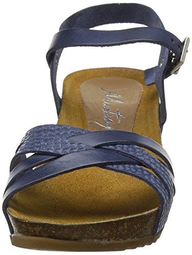 Mustang blau Bride 801 Sandales 2866 8 Cheville Femme Bleu O8rqOwCUn