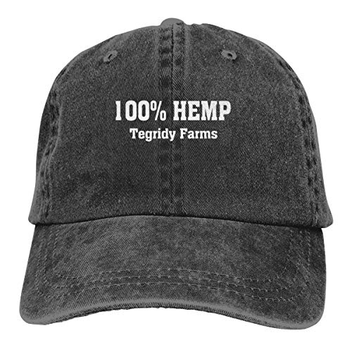 Hemp Baseball Hat - Kkidj Ooii 100% Hemp Tegridy Farms Cowboy Caps Unisex Adjustable Snapback Baseball Hats