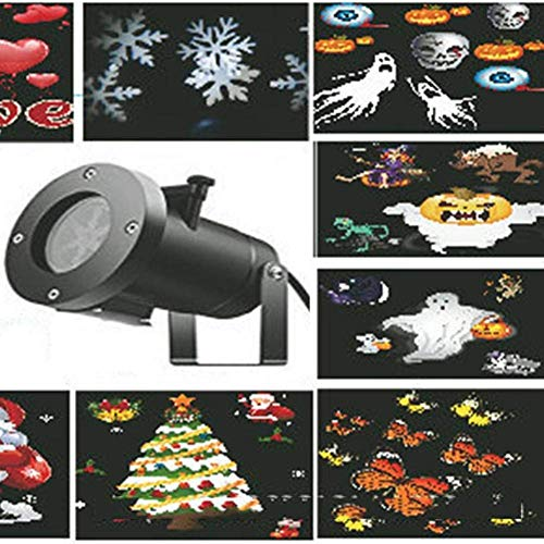 HAOMEI LED Landscape Projector 16 Pattern Waterproof Snowflakes, Outdoor Lights, Christmas Lights, Halloween Lights, Lawn Lights]()